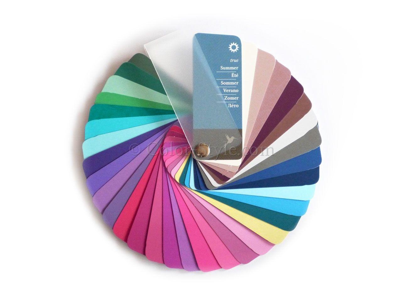 dieser farbpass sommer in f cherform enth lt 35 typgerechte farben f r den farbtyp sommer den. Black Bedroom Furniture Sets. Home Design Ideas