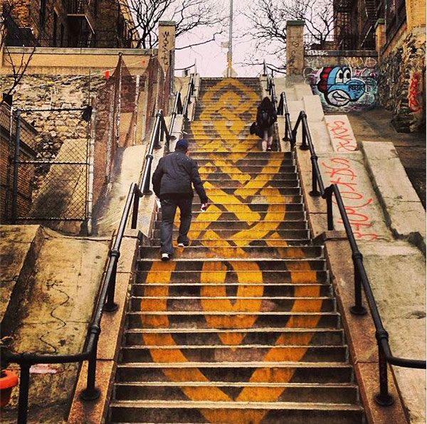 Street Art On Stairs: 15 Beautiful Examples
