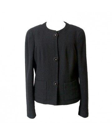6cb9bf31537c49 designer vintage chanel little black jacket available online at labellov  webshop antwerp belgium