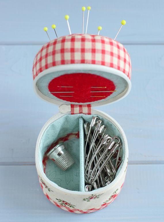 PDF Sewing Organizer – Pincushion Sewing Pattern & Tutorial, Sewing Kit Pattern, Sewing Tools Case, Sewing Notions, DIY Gift for Seamstress – Manualidades