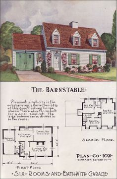 1950 Nationwide House Plan Service The Barnstable Sims House Plans Small House Plans House Plans