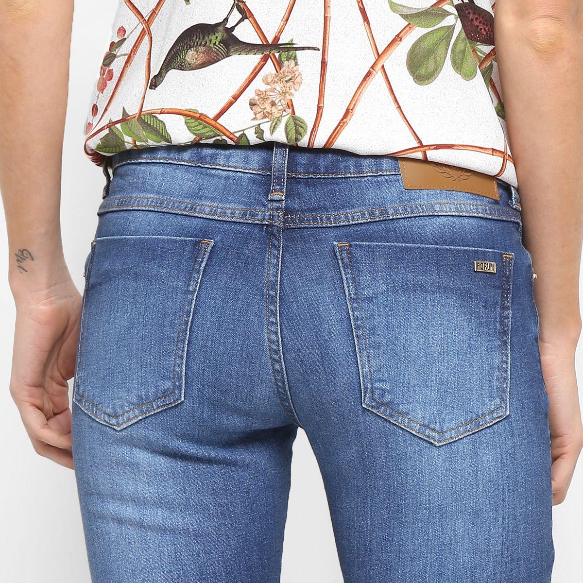 75769105b Calça Jeans Flare Forum Verônica Estonada Cintura Média Feminina - Compre  Agora