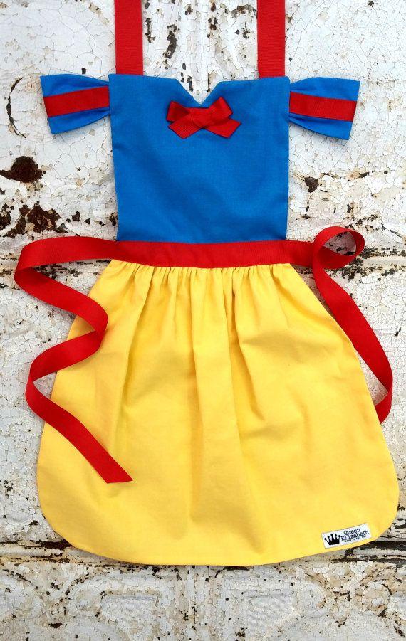 SNOW WHITE Disney Princess inspired Costume APRON. Fits sizes 9 ...