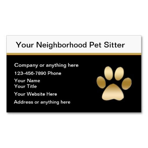 Classy Pet Sitter Business Cards Zazzle Pet Sitting Business