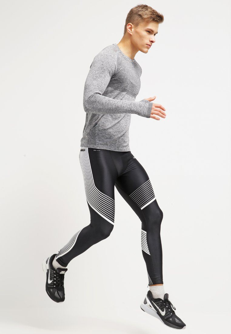 Blackheatherreflective Funktionsshirt Performance Nike Silver Performance Nike 76byfg