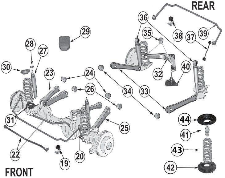 Jeep Grand Cherokee Wj Suspension Parts 99 04 Quadratec