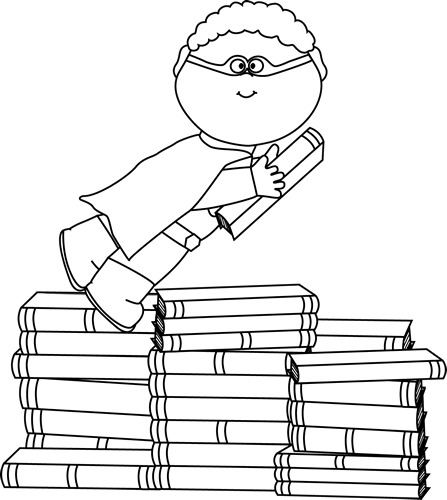 11++ Boy reading book clipart black and white ideas