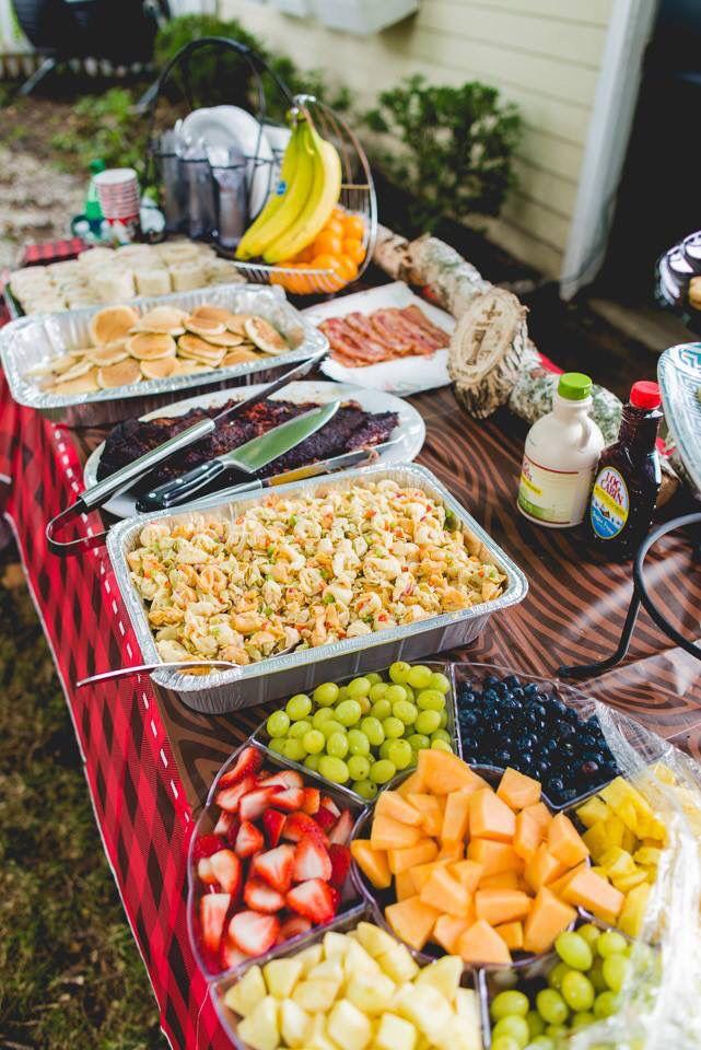 Lumberjack breakfast/brunch spread Birthday brunch