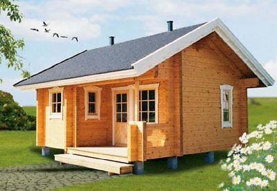 Prefab House Log Cabin Pool House Guest House Garden House Kit ...