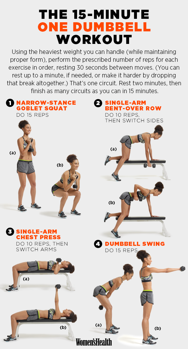 For A Quick One Dumbbell Workout Work Outs Rh Com Kettlebell Chest Exercises Women