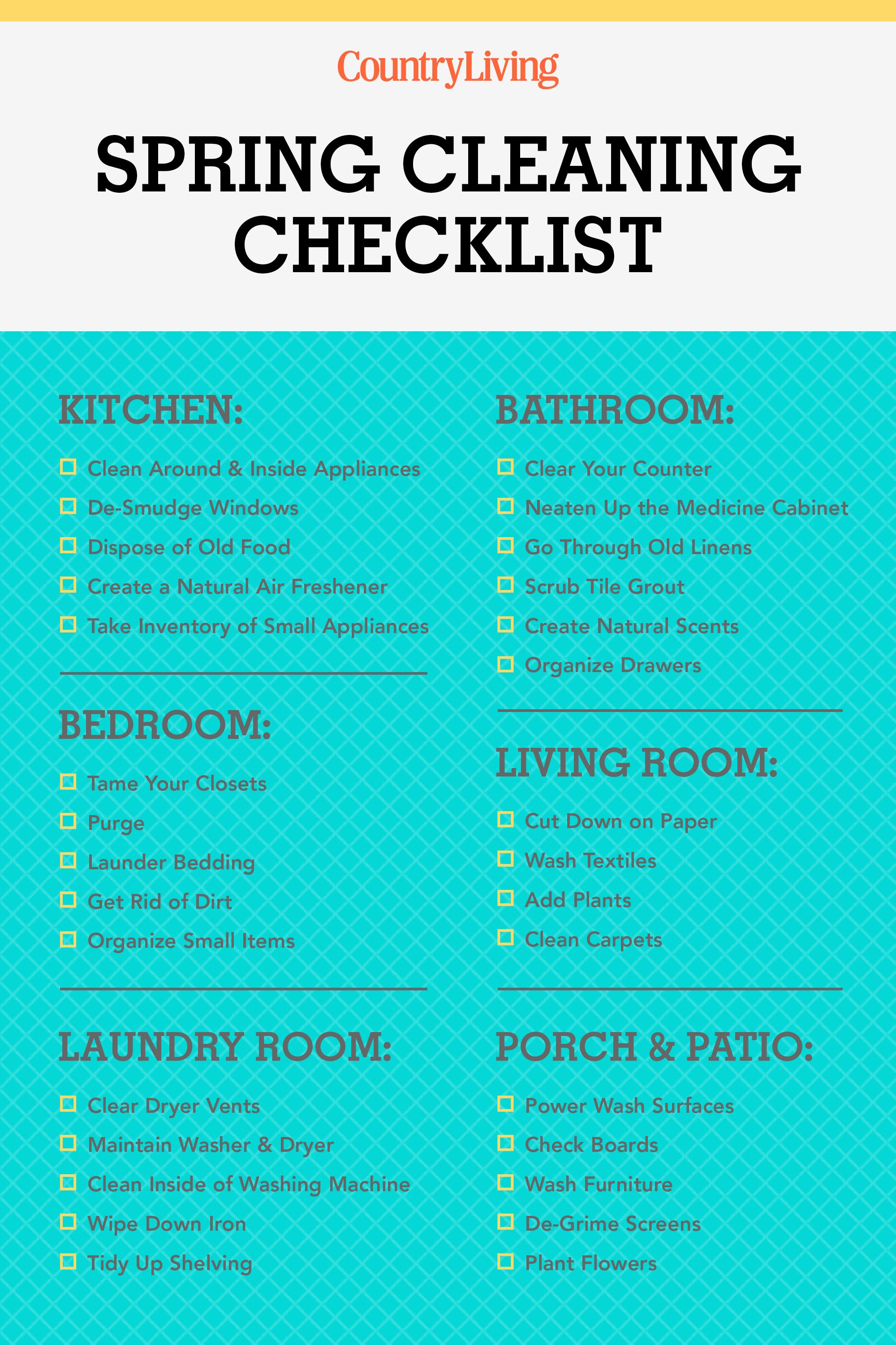32 Ways to Freshen Every Room for Spring | Cleaning checklist ...
