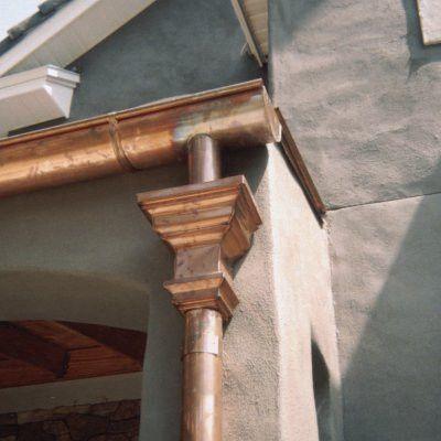 Baroque Copper Leader Head Gutters Downspout Copper Gutters