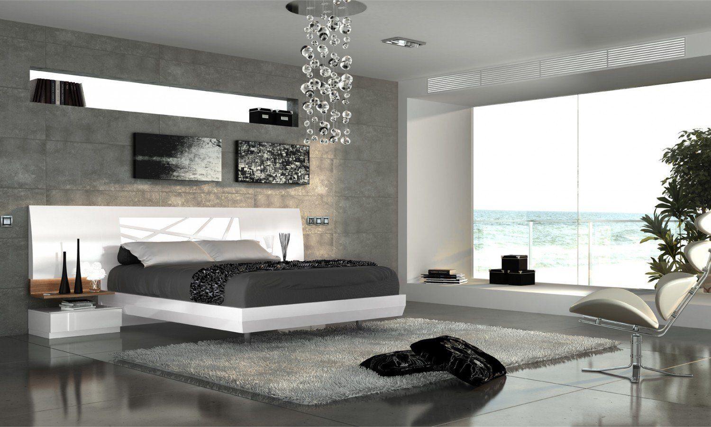 Dormitorio Matrimonio Moderno Lacado Blanco Brillo 11 04  ~ Habitacion De Matrimonio Blanca