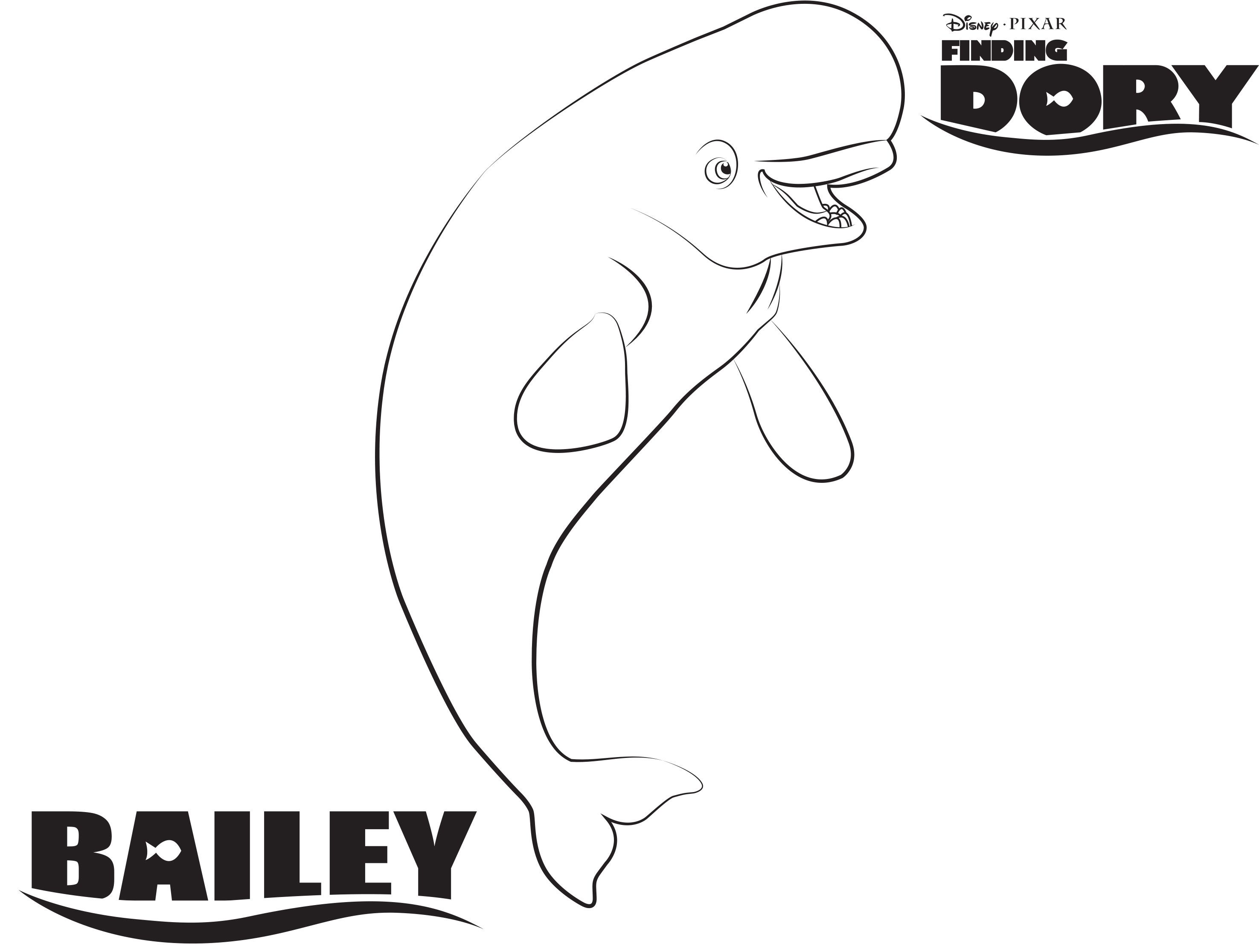 Disney S Finding Dory Bailey Coloring Page