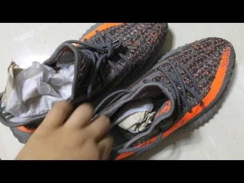 5ee10cfac3cb6 Adidas Yeezy Boost 550 SPLY-350 Grey Orange