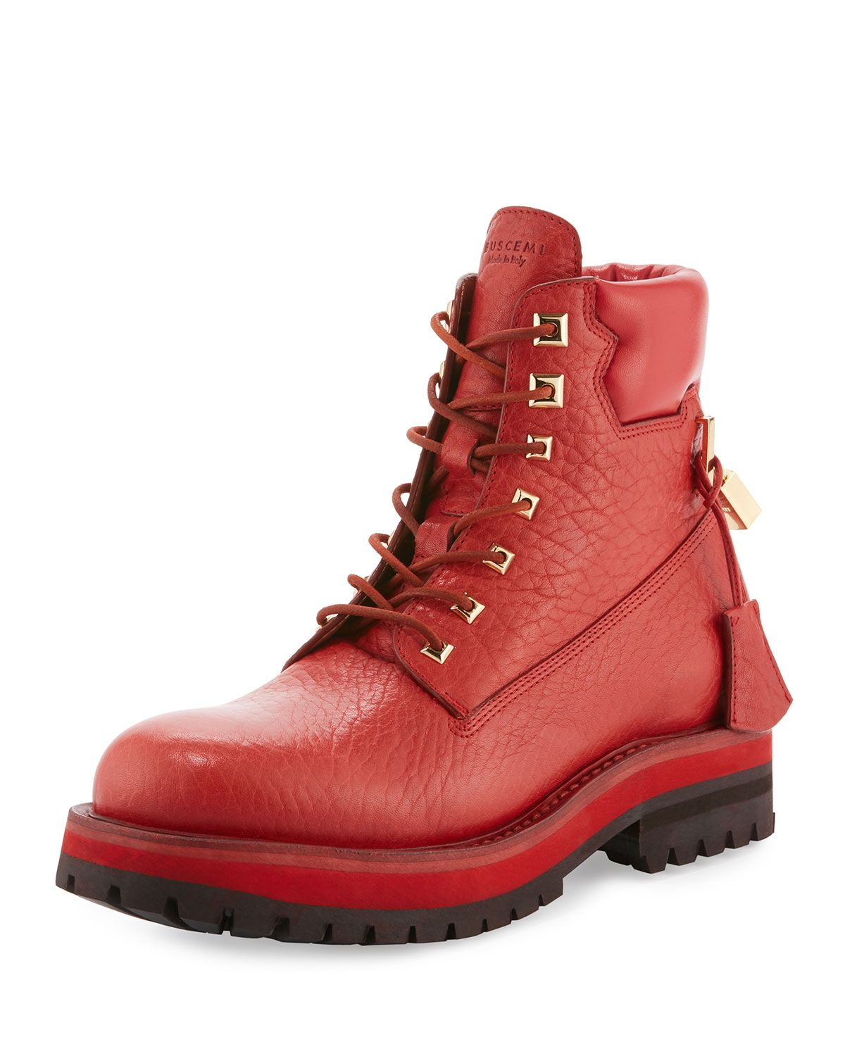 457e2d893 Buscemi Site Leather Lace-Up Hiking Boot in 2019 | *Neiman Marcus ...