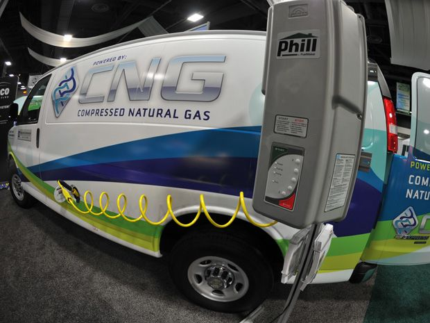 Cheap natural gas makes inroads as U.S. vehicle fuel. Natural gas, whose price is at record lows thanks to a shale drilling boom, is gaining traction as an alternative energy in the United States, with automakers jumping on the bandwagon.