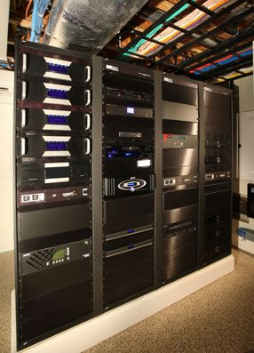 Whole home automation rack and cabling