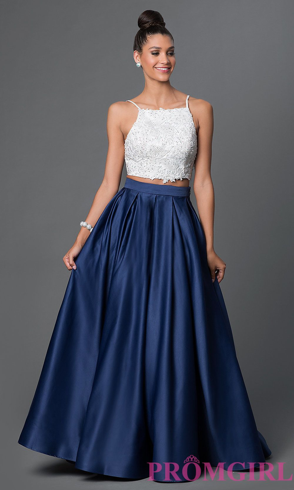 Dave and Johnny Two Piece Ball Gown in 2020 Blue, white