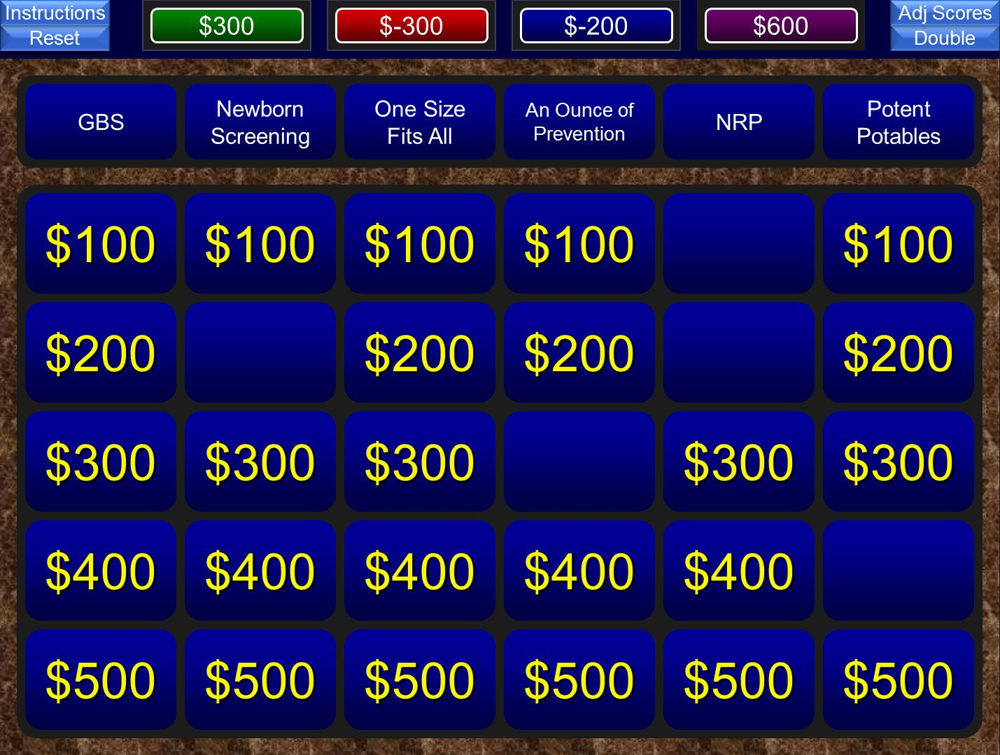Jeopardy Template Free Powerpoint