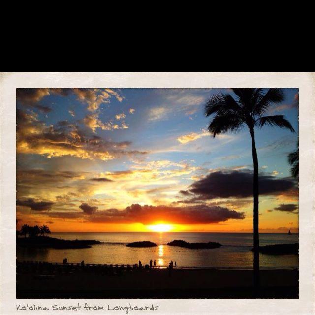 Ko Olina Sunset from Longboards. Taken by James Taylor