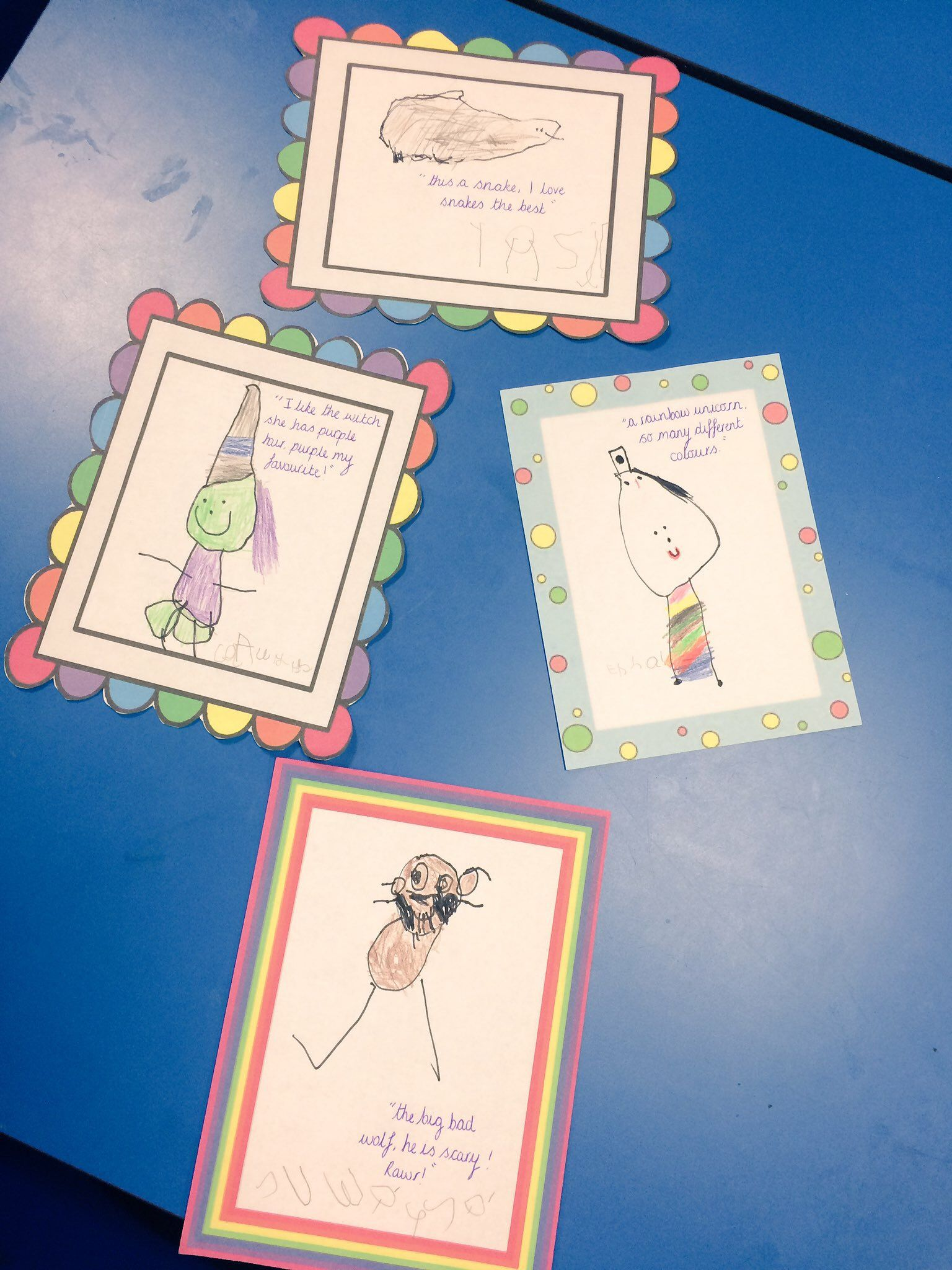 The Children Enjoyed Drawing Their Favourite Book