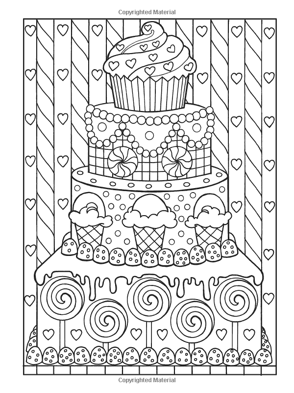 Creative Haven Designer Desserts Coloring Book (Creative