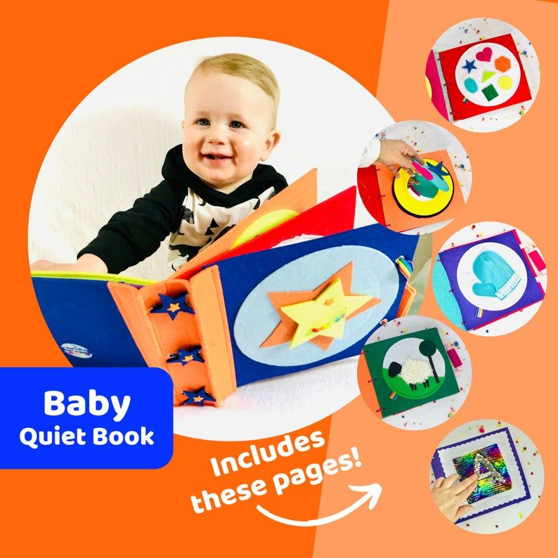 Baby quiet book for boys baby shower or first birthday