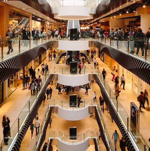 New Town Plaza Food Court In Hong Kong: Mall And Atrium Interiors