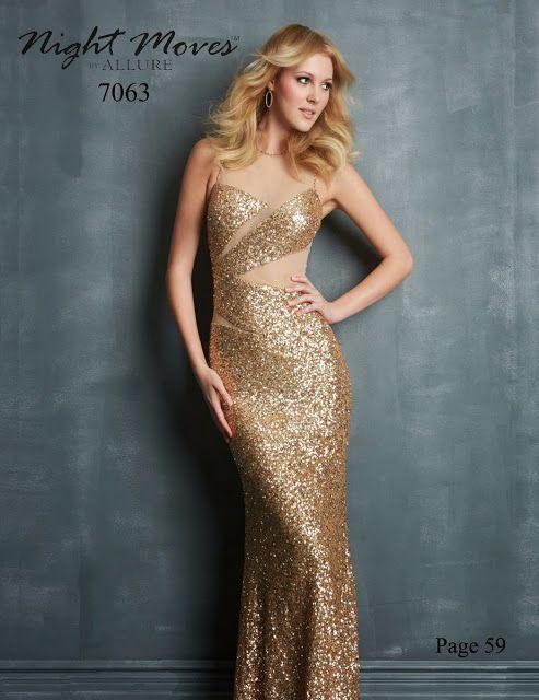 Vestidos para fiesta de noche dorados