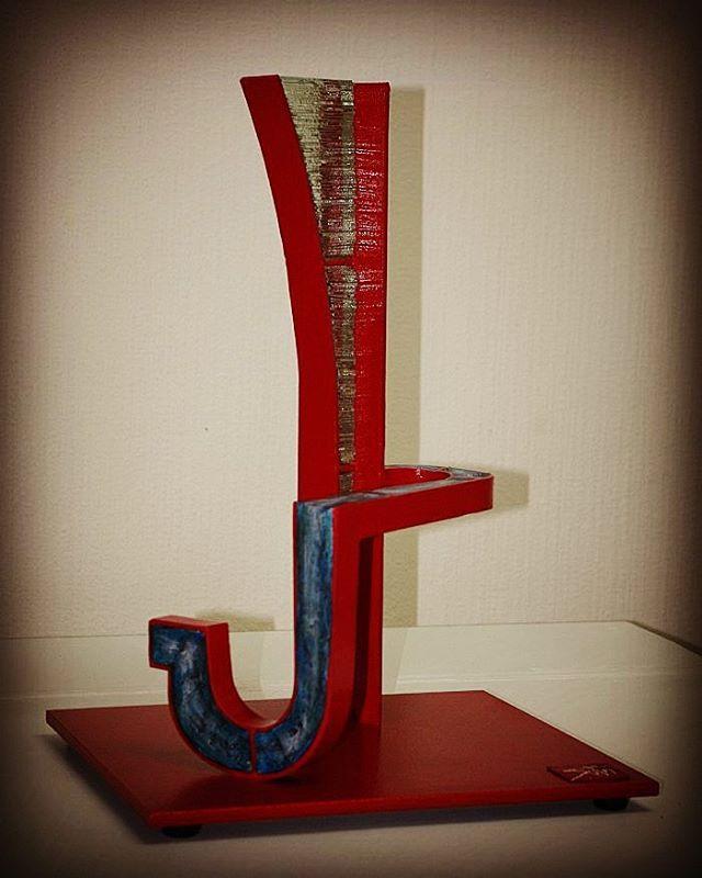 AT rot. Dies ist die Galerie von Skulptur der chilenischen Künstler Soto