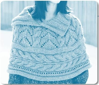 Welcome To The Berroco Peruvia Quick Yarn Lace And Cables Capelet