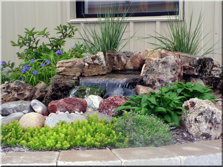 Pondless Waterfall Niemeyer Stone Backyard water fuentes