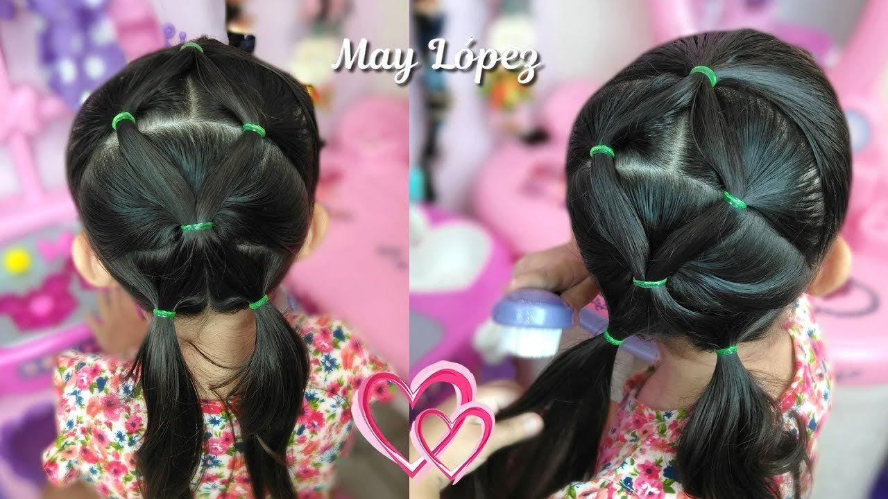 Peinado Facil Y Rapido Con Ligas Para Nina May Lopez Hair En
