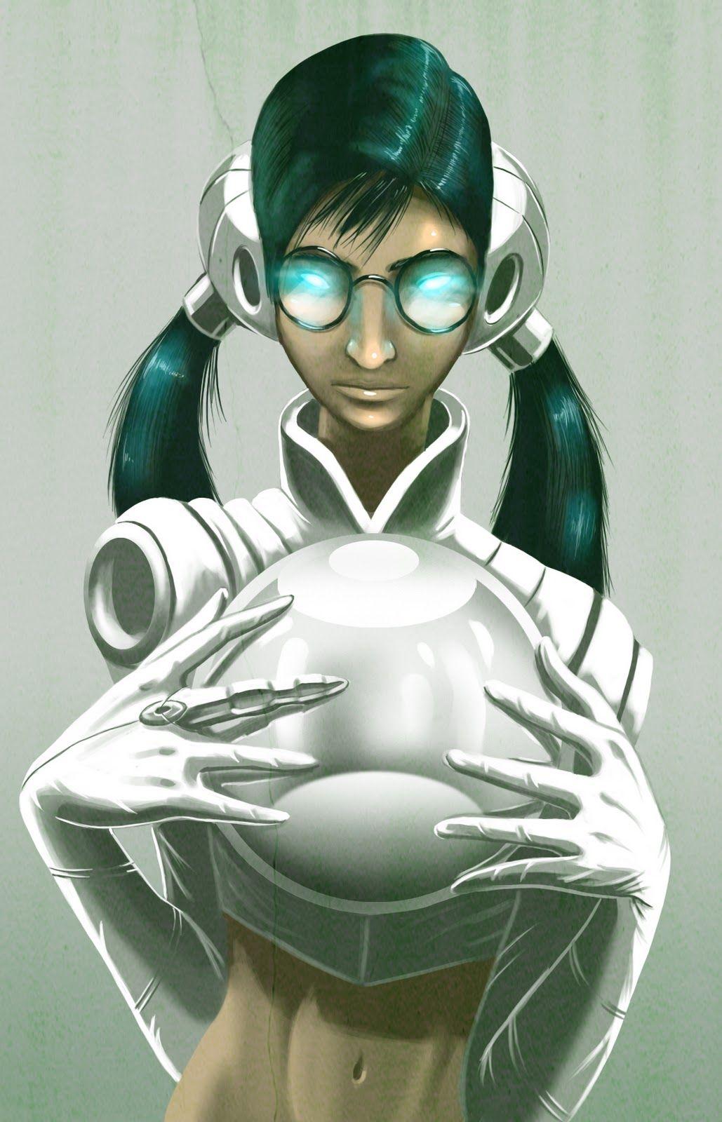 Retro Sci-Fi Girl Annelies 3D Model | Sci fi girl, 3d