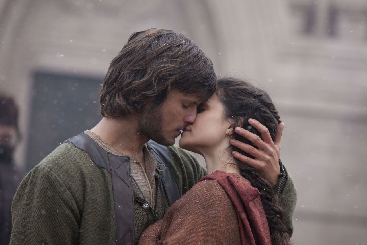 Tom Weston Jones and Charlotte Riley as Merthin and Caris. Ken Follet, World without end