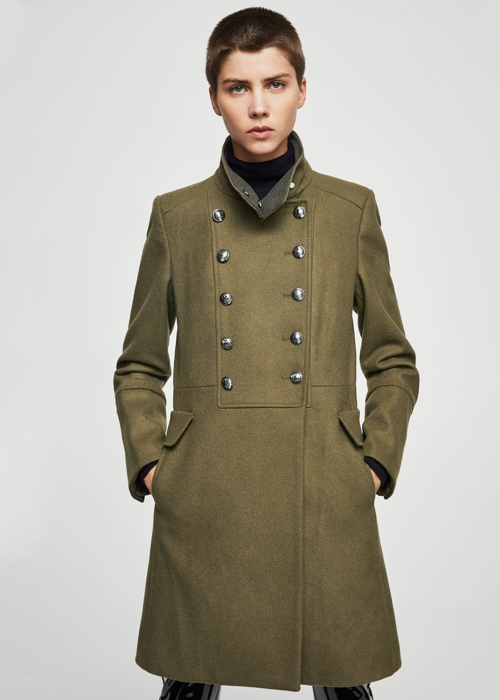 2ff3e0566d93 Double-breasted wool coat - f foCoats Woman