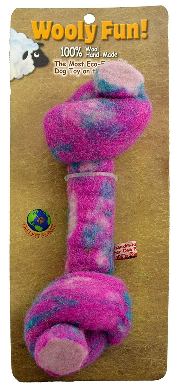 One Pet Wool Knotted Bone Chew Toy, 6.5Inch