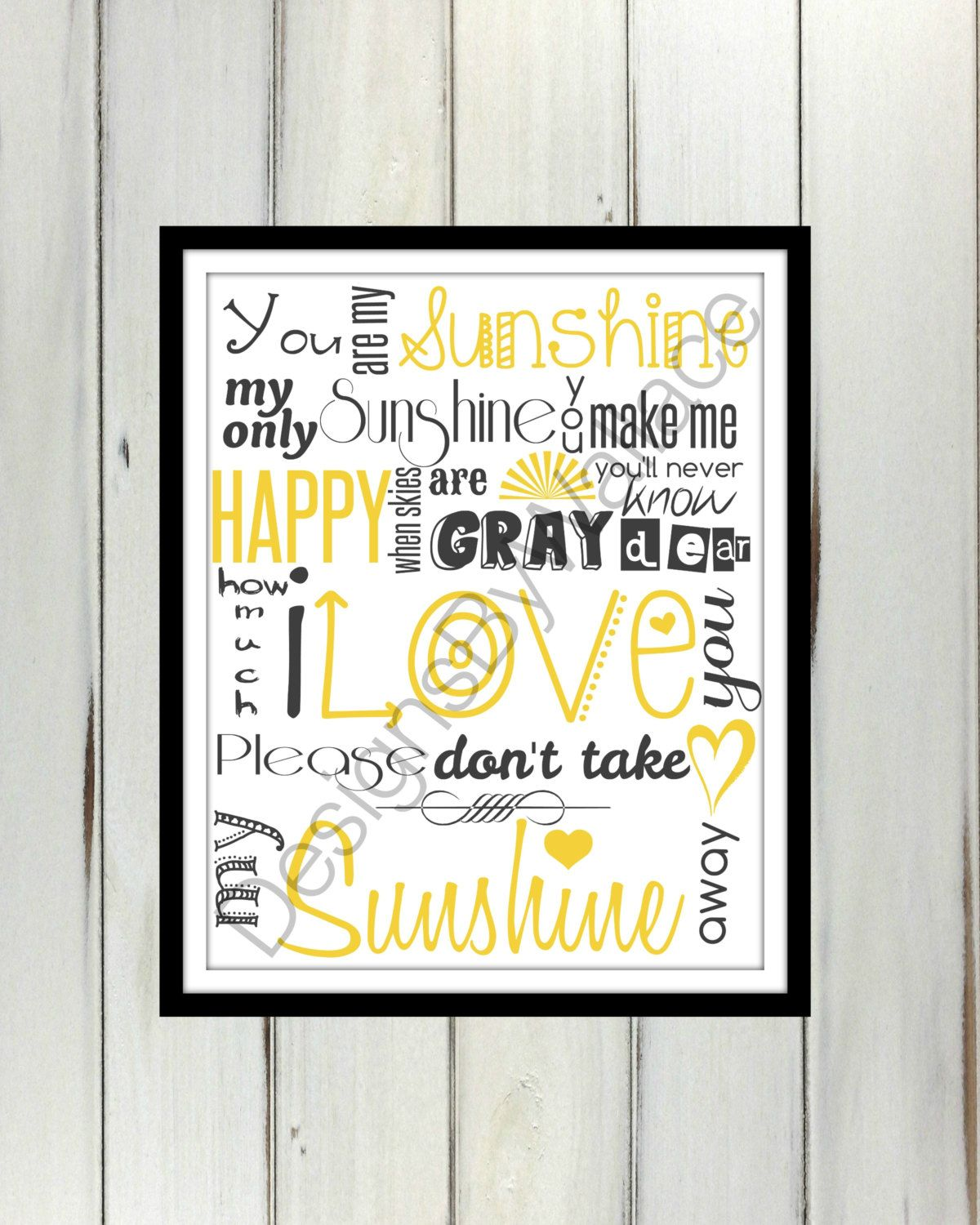 You Are My Sunshine Bathroom Wedding Bedroom by DesignsByWallace, $5.00