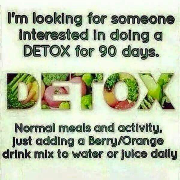 Looking for 3 more people by the end of the month to take on the 90 day detox challenge!  Spots are filling up very fast! Who wouldn't want to cleanse their body, become more healthier, and boost their digestive system. Message me for details on how you can order the 90 day detox. Remember it's 40% of until the end of the month!