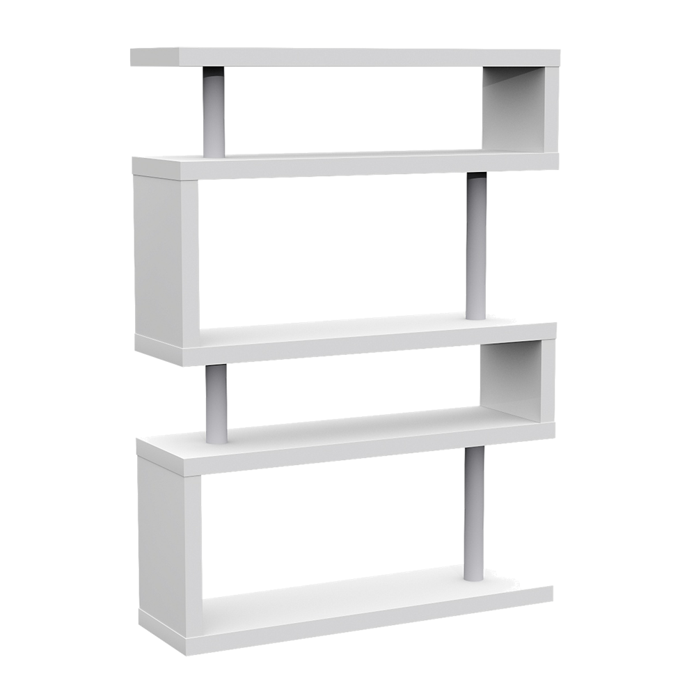 Etagere 5 Tablettes Laque Blanc Fly Shelves Access Bars Bookcase