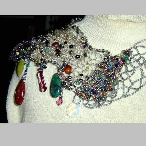 collar de ganchillo   Necklaces 1   Pinterest   Collar de ganchillo ...