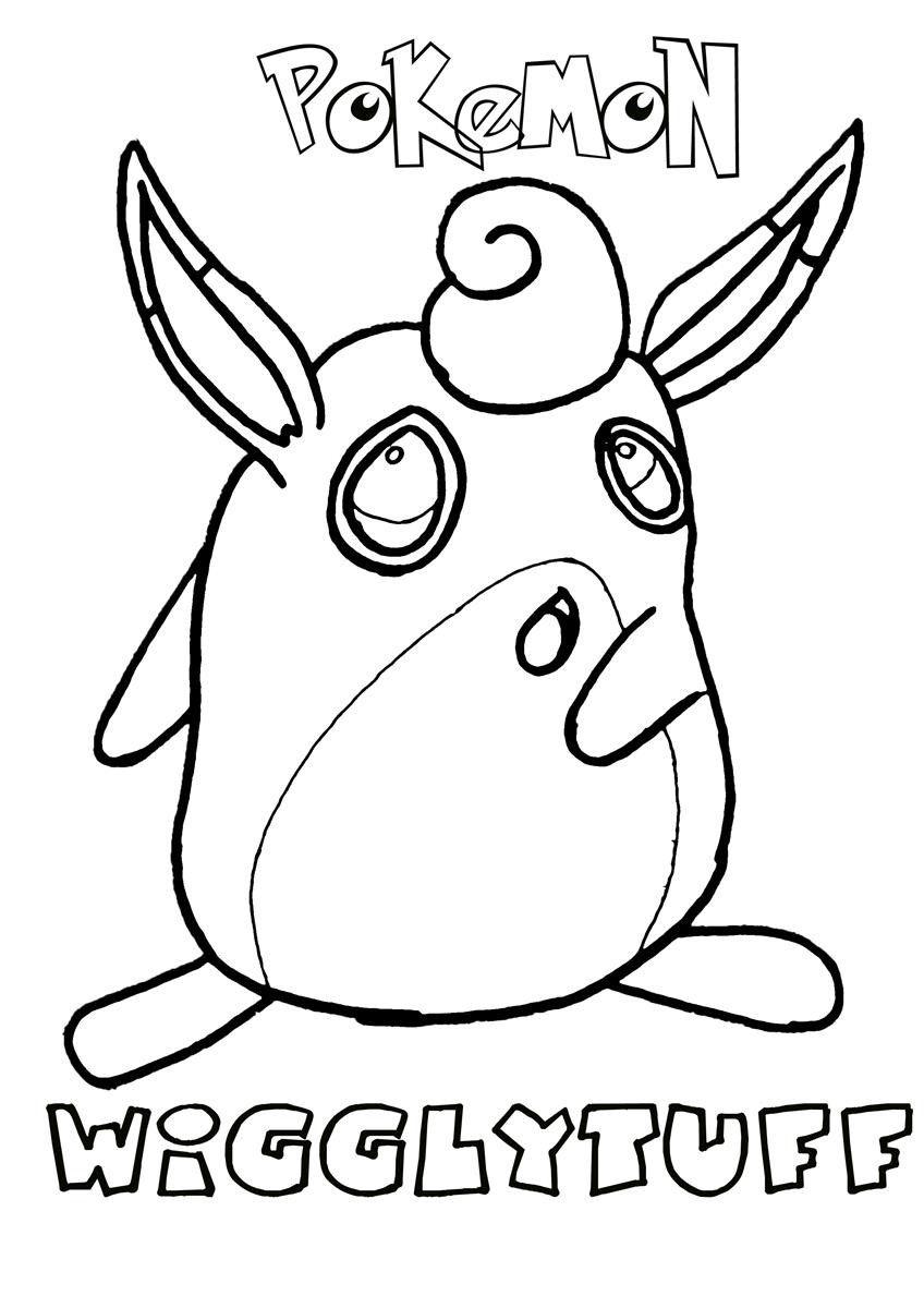 Wigglytuff Pokemon Coloring Page