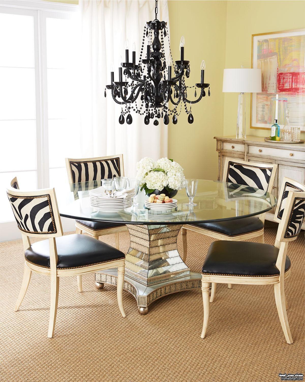 طاولات طعام دائرية باشكال مودرن غرف سفرة جديدة Dining Room Design Dining Table Chairs Modern Dining Room