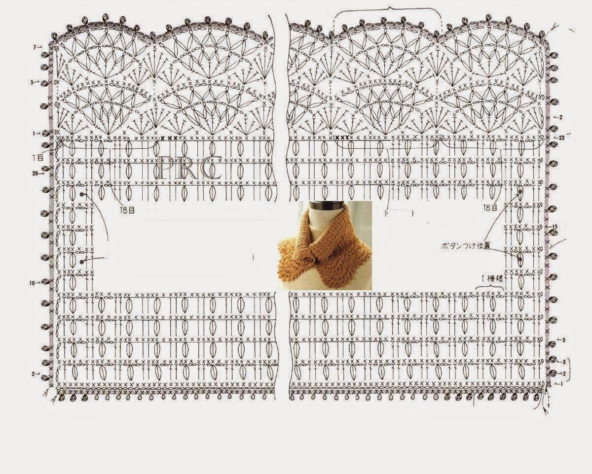Golinha+de+Croche.+Scarf+-++Graf.+PRoseCrochet.JPG 1.200×962 piksel