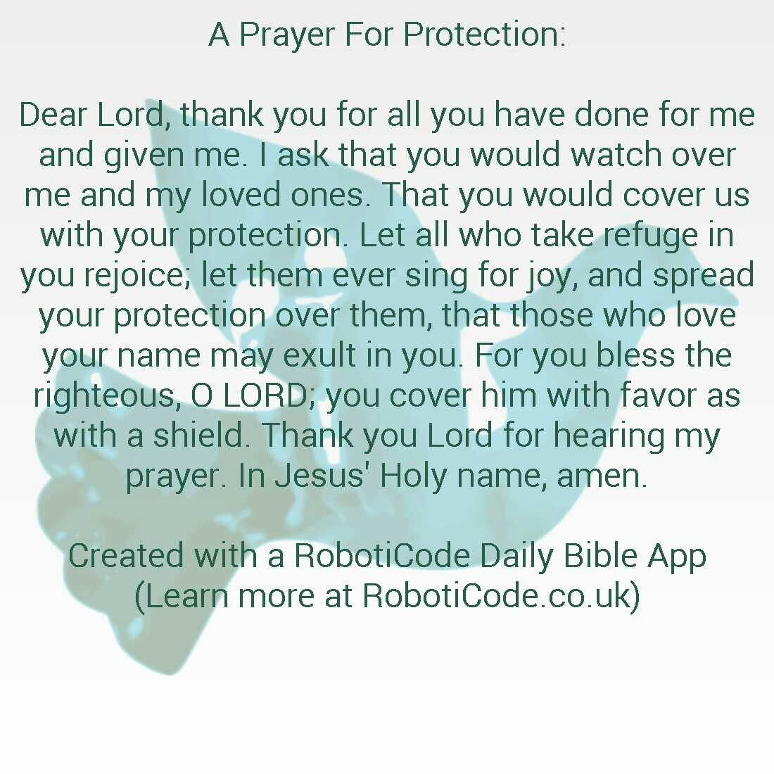 A Prayer For Protection … | Holy Inspiration | Praye…