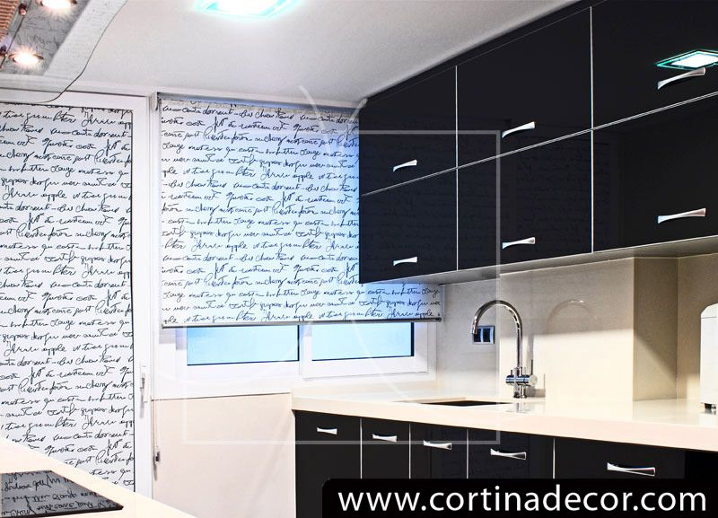 Combinar estor y cortina en cocina buscar con google - Combinar cortinas y estores ...