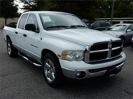 2003 Dodge Ram 1500 Quad Slt 67048 Miles White Exterior Color