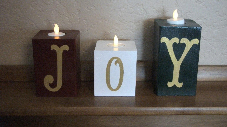 Votive Candle Holder Wooden Blocks Christmas Decor Wood Candle Holder Decorative Blocks Christmas Candle Holders Wooden Candle Holders Christmas Decorations