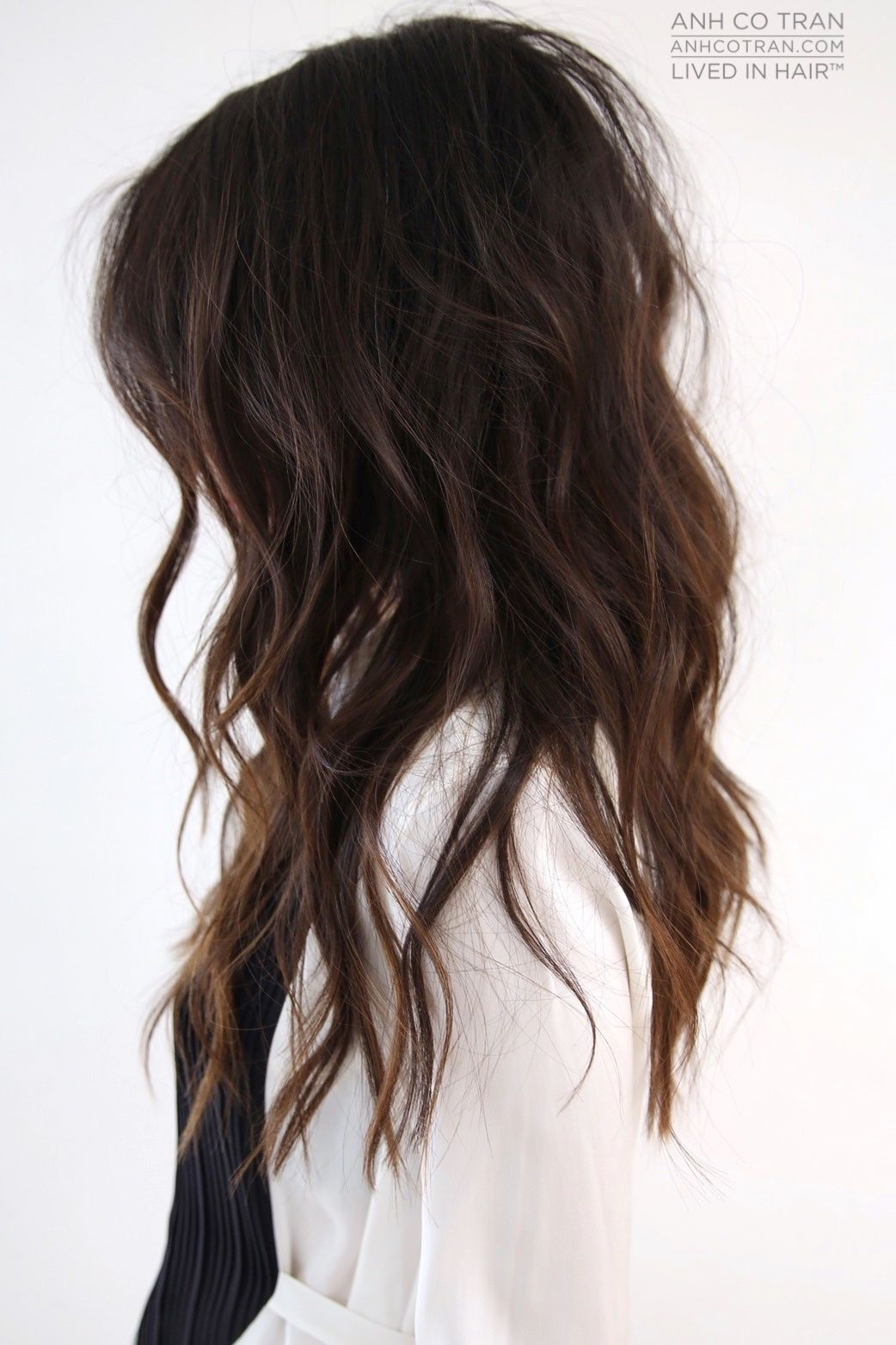 Get loose, beachy waves with piecey layers | Anh Co Tran ...